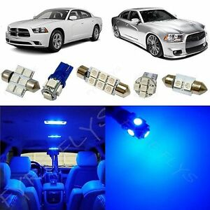 11x Blue Led Lights Interior Package Kit For 2011 2015 Dodge Charger Dc1b