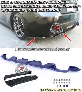Oe Style Rear Diffuser A Style Rear Lip Aprons Fit 12 16 Scion Fr S Subaru Brz