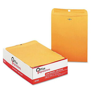 Office Impressions Clasp Envelopes 10 X 13 Brown Kraft 200ct Free Shipping