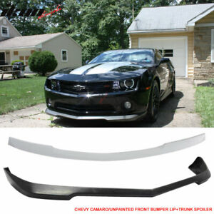 Fits 10 13 Chevy Camaro V6 Only Urethane Front Bumper Lip Rear Trunk Spoiler
