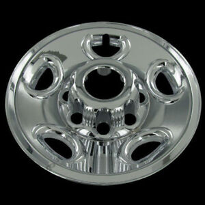 Set Of 4 Chevy 16 Chrome Wheel Skin 8 Lug Hub Caps Rim Covers Alloy Wheels