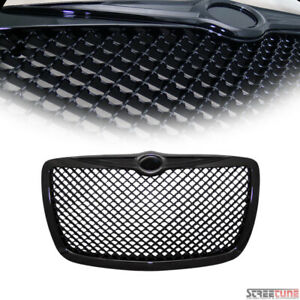 For 04 10 Chrysler 300 300c Blk Bentley Mesh Front Hood Grill Grille Replacement