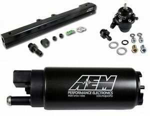 Aem Fuel Pressure Regulator Fuel Rail 340lph Fuel Pump B Series B16 B18c