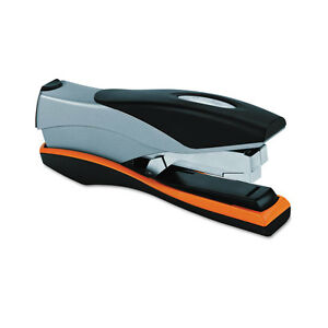 Swingline Optima Desk Stapler 40 Sheet Capacity Silver orange black Swi87845