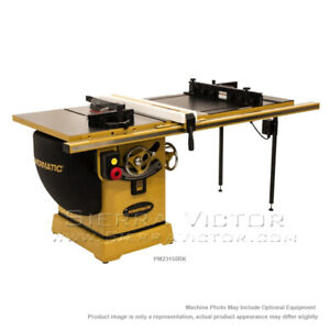 Powermatic Pm2000 Tablesaw 50 Accu fence System Router Lift Pm23150rk