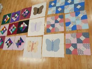 3 Patterns 18 Vintage Antique Quilt Blocks To Make 3 Baby Or Lap Quilts