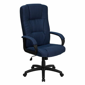 Flash Furniture High Back Navy Fabric Executive Office Chair bt 9022 bl gg