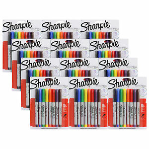 Sharpie Permanent Markers Ultra Fine Point Assorted Pack Of 96 37600