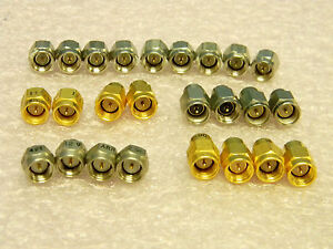 25 Mixed Sma Rf Terminations 50 ohm Gold Stainless Steel Varieties Arra Sv