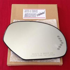 New Mirror Glass And Backing Heated For Chevy Gmc Truck Suv Passenger Side Signl