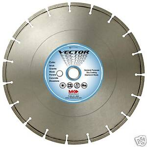 16 X 125 Mk Diamond Vector Blade High Speed Saw Concrete Asphalt General Masonry