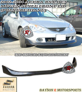 Mu Gen Style Front Lip Urethane Fits 02 04 Acura Rsx Dc5