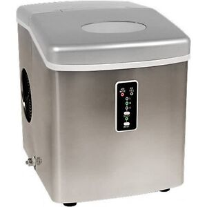 Compact Countertop Portable Ice Maker Stainless Steel Icecube Machine Edgestar