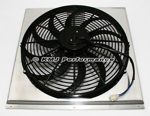 16 Curved Blade Electric Fan And 24 Aluminum Shroud Kit Fits 24x19 Radiator