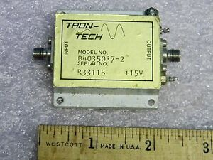 Sma Lo band Rf Amplifier 10mhz 200mhz 40db Gain Tron tech B4035037 2