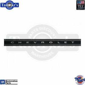 69 72 Chevy Pickup Truck Tailgate Trim Molding W Black Painted Insert Trim Part