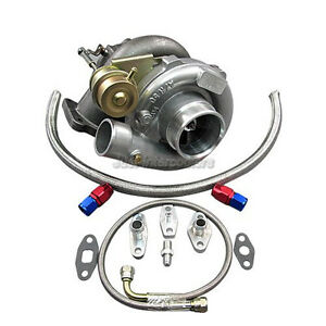 T61 Turbo Charger W Oil Kit For Toyota 86 92 Supra Mk3 Mk 3 7mgte Upgrade Ct26