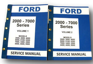 Ford 3000 4000 Series Tractor Service Repair Shop Manuals New 944pg Complete Set