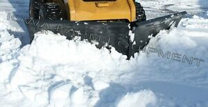 9 Skidsteer Snow Plow all in one v blade pusher angle Blade back Drag tripedge