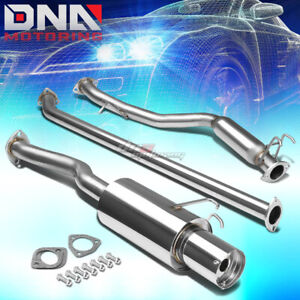 4 Muffler Tip Stainless Steel Exhaust Catback System For 06 11 Civic Ex Lx Dx Fg