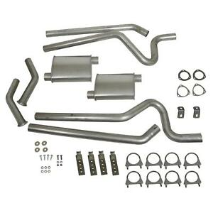 Summit Exhaust System Header back 2 50 Split Rear Exit Steel Ford Mustang