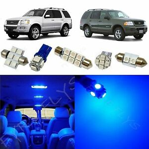 8x Blue Led Lights Interior Package Kit For 2002 2010 Ford Explorer Fx1b
