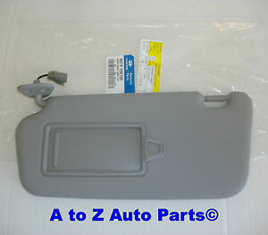 New 2008 2011 Hyundai Accent Driver Side Grey Sun Visor Oem Hyundai
