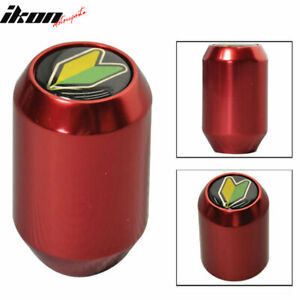 M10 X 1 5 Mm Red Brushed Aluminum 5 Spd Gear Shift Knob Heavy Weighted Mt Manual