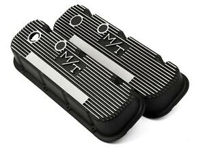Holley M t Valve Covers 241 85 Chevy Bbc 396 427 454 Black Wrinkle