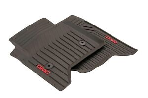 2015 2018 Gmc Yukon Cocoa Front All Weather Floor Mats With Gmc Logo 23452755 Gm