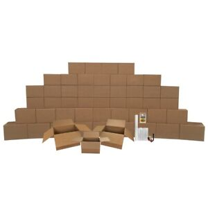 Smart Moving Bigger Boxes 4 Room 50 Moving Boxes Packing Supplies