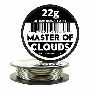 25 Ft 22 Gauge Awg A1 Kanthal Round Wire 0 64mm Resistance A 1 22g Ga 25