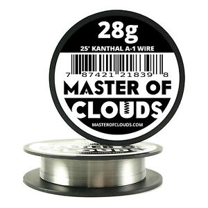 25 Ft 28 Gauge Awg A1 Kanthal Round Wire 0 32mm Resistance A 1 28g Ga 25