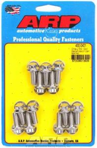 Arp Transmission Pan Bolts Stainless Polished 12 Point Chevy Gm Th350 Th400 Set