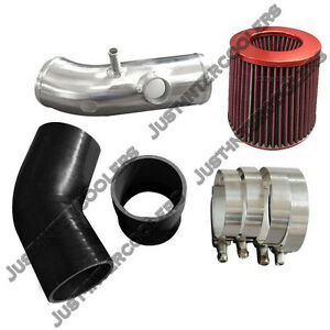 3 Intake Pipe Air Filter Kit For 03 Mazdaspeed Protege 2 0l Turbo Black Hose