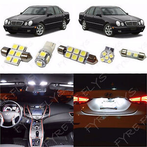 11x White Led Lights Interior Package Kit For 1998 2002 Mercedes E class Zs3w