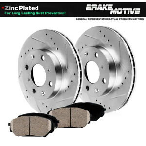 Front Drilled And Slotted Brake Rotors Ceramic Pads 2004 2005 2006 Scion Xb Xa
