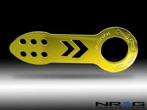 Nrg Front Tow Hook Gold With White Nrg Logo Tow 100gd