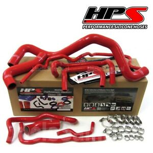 Hps Performance Reinforced Silicone Radiator Hose Kit Vw Golf Gti 1 8t Lhd Red