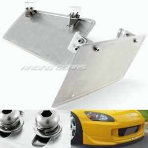 Universal Adjustable Angle Bumper License Plate Mount Relocator Holder Bracket