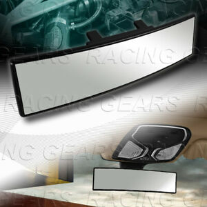 Universal Jdm 300mm Wide Convex Interior Clip On Panoramic Rear View Mirror
