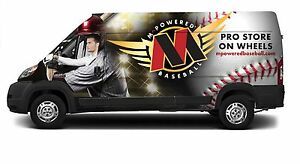 Mobile Baseball Store Full Package With Custom Van And Pro Baseball Inventory