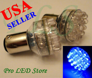 10 Pairs 1157 3497 7528 Blue 24 Led Bay15d Signal Reverse Turn Tail Stop Lights