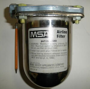 Msa 93893 Pneumatic Airline Filter 125 Psi New