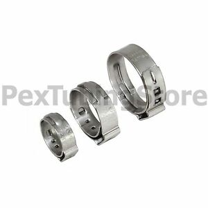 1000 1 2 Pex Grip non slip Stainless Steel Cinch Clamps Ssc By Oetiker