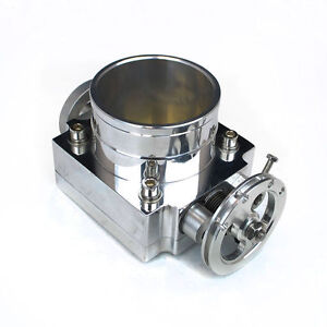 Rev9 80mm Universal Billet T6 Aluminum Throttle Body W Adapter Plate