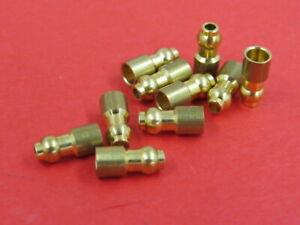 1930 S 40 S New Original Style Brass Wiring Bullet End Connectors 10 B 14486 S