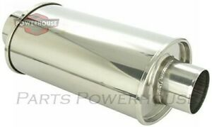 Vibrant 1141 6 75 X 4 5 X 14 Long Ultra Quiet Resonator 2 5 Inlet X 2 5 Out