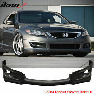 Fits 08 10 Honda Accord 2dr Hfp Style Front Bumper Lip Pu
