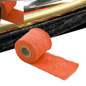 Orange 2 X 1 16x 15ft 180 T1 Exhaust Header Turbo Manifold Downpipe Heat Wrap